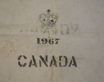 Vintage CANADA 1967 giant canvas mail bag