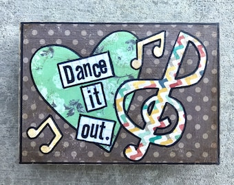 Dance it out music mixed media collage art by things with wings