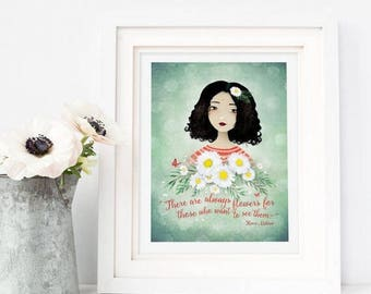 50% Off - Summer SALE There are always flowers... - Henri Matisse Quote - Open Edition Print