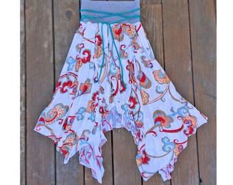 Boho Dance Asymmetrical Maxi Skirt
