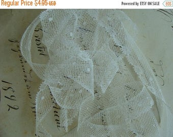 ONSALE Exquisite Antique White French Wedding Lace Yardage Great for Doll Lace