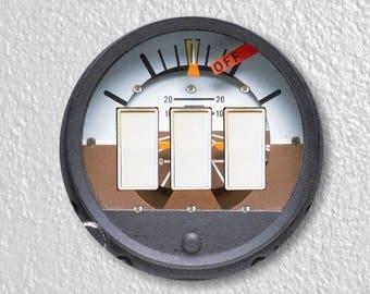 Attitude Indicator Aviation Triple Decora Rocker Light Switch Plate Cover