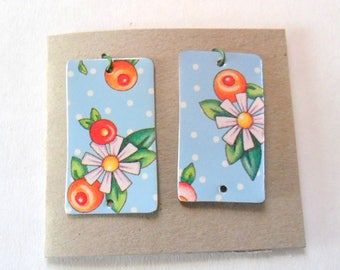 Reclaimed Vintage Decorative Tin Earring Findings