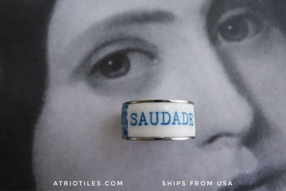 Custom order for size 8 Saudade Ring
