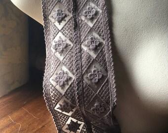 Mocha Mauve Cotton Lace for Garments, Costumes CL
