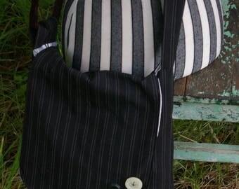 Chrissy's Messenger  Bag -  Black Stripe