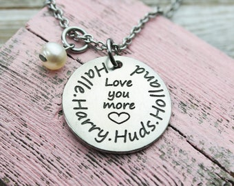 Love you More Mom Necklace