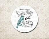 Stickers Envelope Seals Paris Bird Wedding Party Favor Treat Bag Sticker SP061