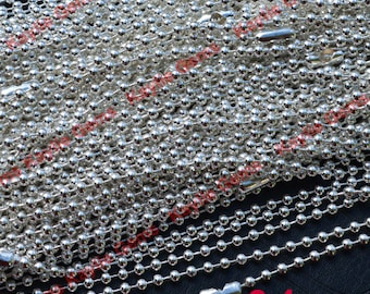 Sale 100pcs Silver Quality Ball Chain 2.4mm Necklaces in 24 inch Length - Domestic shipping only
