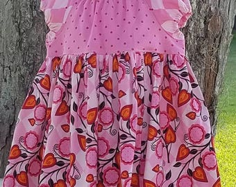 I Heart You peasant style dress