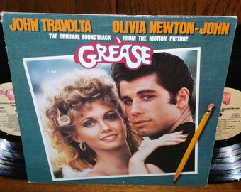 Grease Vintage Vinyl Musical Soundtrack Double Album