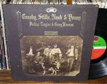Crosby Stills Nash & Young Deja Vu Vintage Vinyl Record