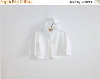 SALE // Vintage White Baby Cardigan