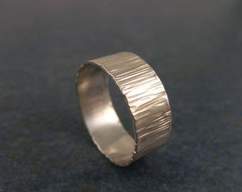 Textured Band, Sterling Silver, Ring