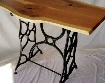 Upcycled Sewing Table - Natural Edge Juniper