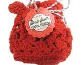 Soap Saver 100% cotton soap sack/crochet soap saver cotton soap holder your choice of color/style