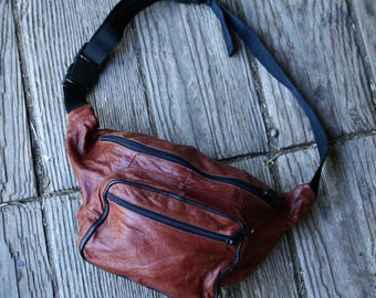 Leather Fanny Pack Bohemian Fashion /Festival Fashion /Cinnamon/ Vintage From Nowvintage on Etsy