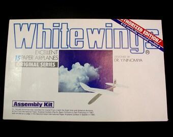 Paper Airplanes, White Wings Glider Kit, Yasuaki Ninoniya, Model Airplane Kit, Miniature Airplanes, Aviation Flying, Vintage Model Planes
