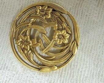 Museum Of Fine Arts Vintage Scarf Brooch, REDuCED