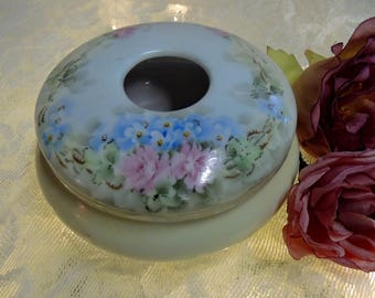 Vintage Hand Painted Hair Receiver, Z. S. & Co. Bavaria