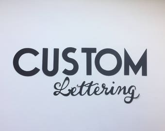 """3"""" Die Cut Letters / Custom Letters / Banner Letters / Cardstock Letters / Teacher / Happy Birthday / Garland Letters / Lettering"""