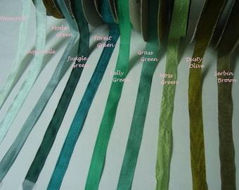Hug Snug Rayon Seam binding 5 yards in your color choice The Greens