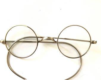 John Lennon Glasses True Antique Spectacles Eyeglass Frame Goggles Steampunk Optical Saddle Bridge Metal Steve Jobs Harry Potter sale