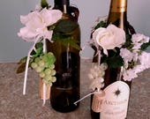 Bridal shower Wine Bottle Toppers Centerpieces set of 8 party favors baby shower table decor wedding reception accessories custom Francine