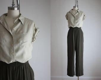 collared silk blouse