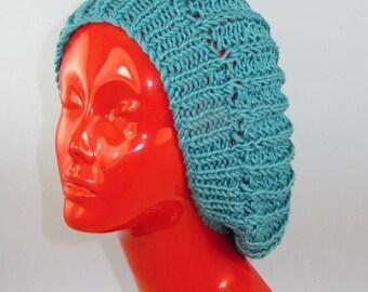 40% OFF SALE Instant Digital File pdf download Knitting Pattern - Chunky Fishermans Rib Super Slouch Hat knitting pattern by madmonkeyknits