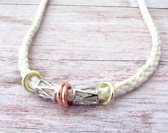 Boho Rope Necklace - Rope Boho Necklace - Bohemian Rope Necklace - Mens Rope Necklace - Nautical Rope Necklace - Geometric Rope Necklace