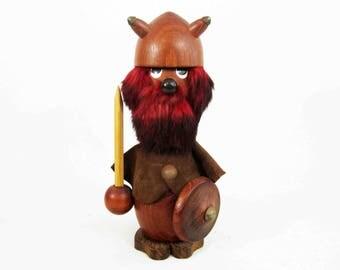 Vintage Danish Modern Viking Figurine in Teak. Circa 1960's.
