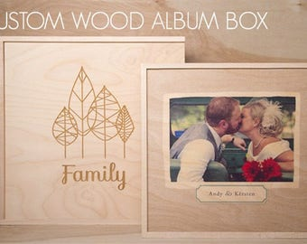 Maple Album Box, Album Box, Wood Album Box, Custom Album Box, Wedding Album Box, Photo Album Box