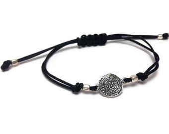 Minoan disc bracelet - 925 sterling silver - Greek jewelry - Fine jewelry - Women gift