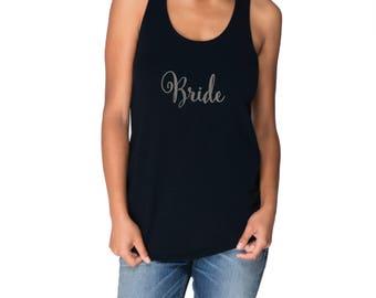 Bride Tank - Style 9 - Bride Racerback Tank Top, Bachelorette Party Shirts, Bachelorette Party Tanks, Bridal Gift