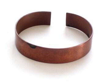 Unisex Copper Cuff Bracelet, Men's Copper Cuff, Copper Bracelet, Vintage Copper Cuff, Copper Jewelry, 7th Anniversary, The Copper Cat