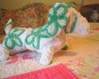 Plush Handmade Weiner Dog - Dachshund - Doxie from Vintage Chenille-SOOOO CUTE