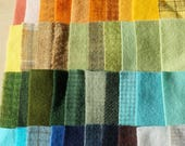VENTE à la main teint feutre laine Scrap Bundle 1379 parfait pour accrocher tapis, Applique, Quilting et couture de Quilting hectares