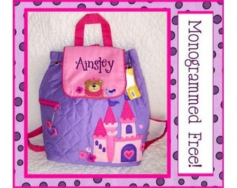 28 Fonts- Personalized Toddler PRINCESS BEAR Quilted Backpack- Dance/ Preschool/ Diaper Bag