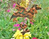 Dachshund Grave Marker Garden Plant Stake, Pet Memorial, Metal Garden Art, Copper Garden Art, Metal Yard Art , Outdoor Dog Sculpture