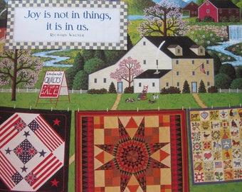 Charles Wysocki, Quilts for Sale, 1994 Vintage Bookpage Print, Unframed Colorplate