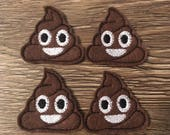 Smiling Poop Emoji Felties Set of four - Poop Felties