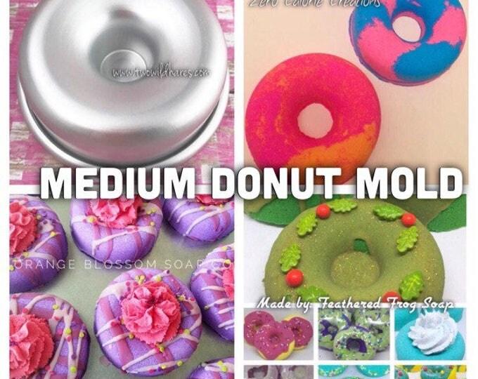 """MED. DONUT Bath Bomb Mold, Metal, 3 3/8"""""""