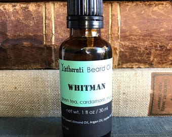 Whitman Beard Oil - green tea, cardamom, musk