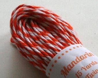 25% Off Summer Sale Baker's Twine - Tester Size - 15 Yards - Mandarin Orange 4 Ply Twine
