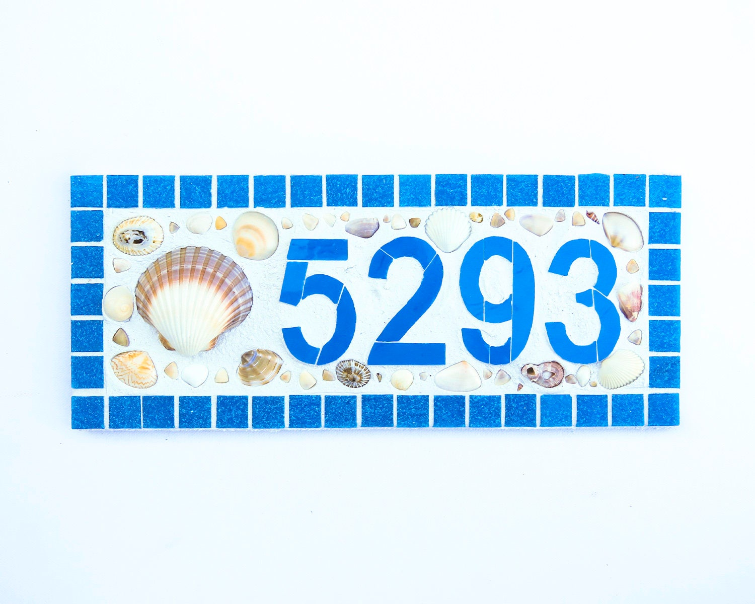 Mosaic house number plaque outdoor house number beach mailbox mosaic house number plaque outdoor house number beach mailbox number ceramic tile house number beach house dailygadgetfo Image collections