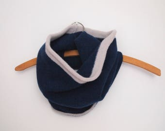 100% Lambswool Navy Snood / Cowl