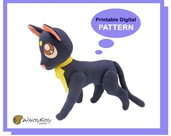 PATTERN - Lunar Cat Plushie