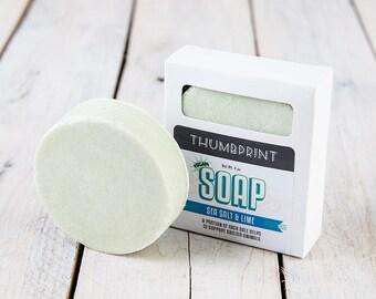 Salt Bar Soap | Sea Salt Lime Soap | Salt Soap | Vegan Soap | Handmade Soap | Homemade Soap | Artisan Soap