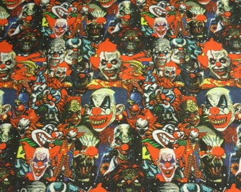 Scary Clowns Panel Shirt Made to order in Men's sizes Small up to 6x